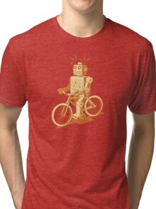 robot on fixie Tri-blend T-Shirt