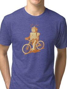 robot on fixie Tri-blend T-Shirt
