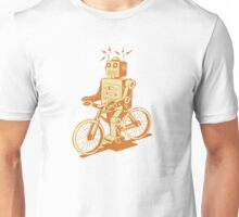 robot on fixie Unisex T-Shirt