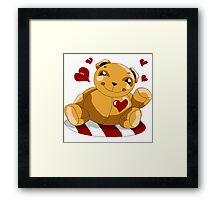 Love Teddy Bear Framed Print