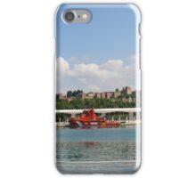 Málaga desde su puerto (panorámica) iPhone Case/Skin