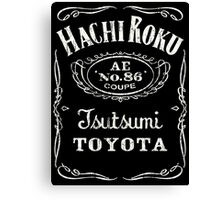 Fortitude's Toyota Corolla / Levin / Trueno AE86 Hachi Roku 'Drink & Drive' T-Shirt Canvas Print