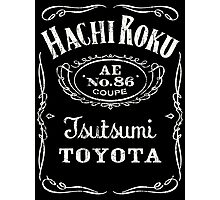 Fortitude's Toyota Corolla / Levin / Trueno AE86 Hachi Roku 'Drink & Drive' T-Shirt Photographic Print