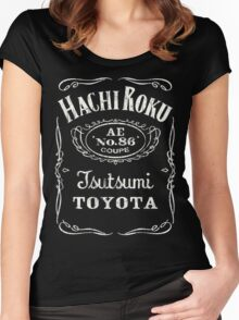 Fortitude's Toyota Corolla / Levin / Trueno AE86 Hachi Roku 'Drink & Drive' T-Shirt Women's Fitted Scoop T-Shirt