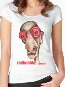 Insomniac w. redbubble logo Women's Fitted Scoop T-Shirt