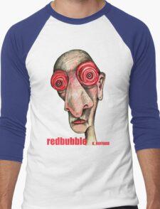 Insomniac w. redbubble logo Men's Baseball ¾ T-Shirt