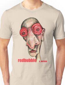 Insomniac w. redbubble logo Unisex T-Shirt