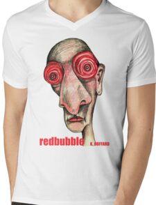 Insomniac w. redbubble logo Mens V-Neck T-Shirt