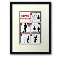Rocky Horror Picture Show Time Warp Framed Print