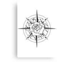 Rose Compass Canvas Print