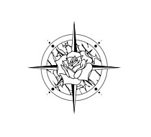 Rose Compass Photographic Print