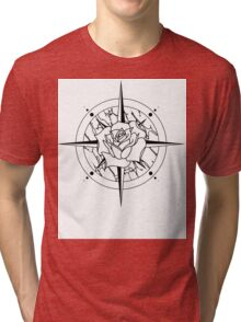 Rose Compass Tri-blend T-Shirt