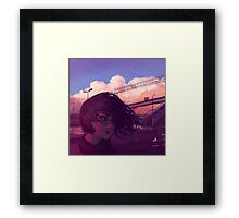 Sunset Railroad Framed Print
