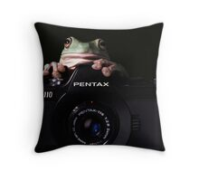 OK everybody  say croakkk...! Throw Pillow
