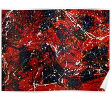 Abstract Red Love Poster
