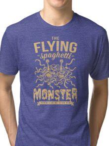 The Flying Spaghetti Monster (dark) Tri-blend T-Shirt