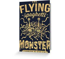 The Flying Spaghetti Monster (dark) Greeting Card