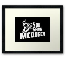 God Save McQueen Framed Print