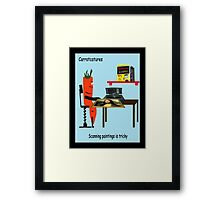 Carrotcature 8 Framed Print