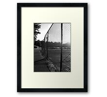 Near the Tennis Courts at SUNY Old Westbury Framed Print