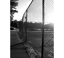 Near the Tennis Courts at SUNY Old Westbury Photographic Print