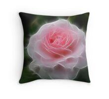 Whisper Rose Throw Pillow