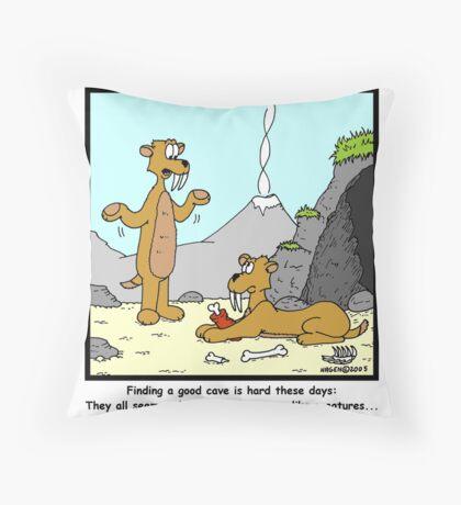 Cave Men Throw Pillow