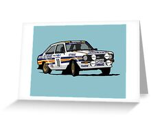 Fortitude's Ford Escort Mark 2 BDA Cosworth Greeting Card