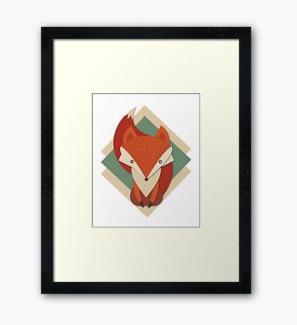 Retro Foxy Framed Print