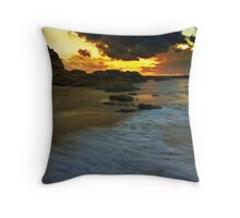 sun sand and clouds Throw Pillow