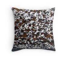 Snow Goose Static Throw Pillow