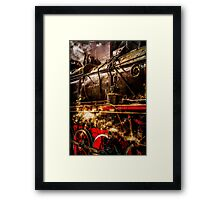 Train In Steam Framed Print