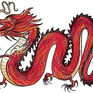 Oriental Red Dragon by Zsuzsa Goodyer
