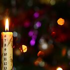 Christmas Advent Candle (Landscape) by Dale Rockell