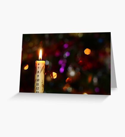 Christmas Advent Candle (Landscape) Greeting Card