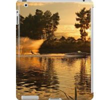 Ski around sunset - Lake Kaiafas iPad Case/Skin