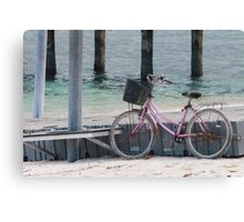 Well, can't ride a bike on water Canvas Print