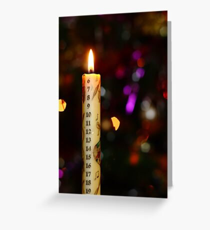Christmas Advent Candle (Portrait) Greeting Card