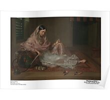 Muslim Lady Reclining Poster