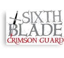 SIXTH BLADE crimson guard  Canvas Print
