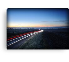 Light Trail at Sunrise Canvas Print