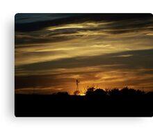 Caramel Colored Sunset Canvas Print