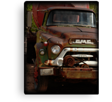 GMC Vintage Cement Truck Canvas Print