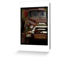 GMC Vintage Cement Truck Greeting Card