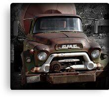GMC Vintage Cement Truck, Springdale, Utah  Canvas Print
