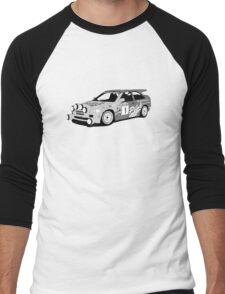 Fortitude's 'Malcolm Wilson' Michelin Pilot Ford Escort Cosworth  Men's Baseball ¾ T-Shirt