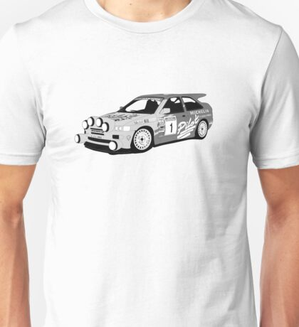 Fortitude's 'Malcolm Wilson' Michelin Pilot Ford Escort Cosworth  Unisex T-Shirt