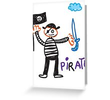 child drowning Greeting Card