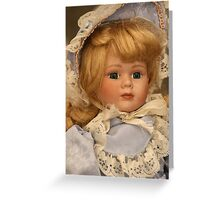 blond doll head Greeting Card