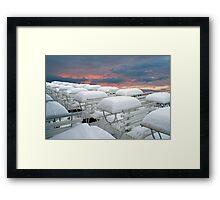 More snow coming  Framed Print